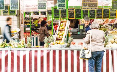marché fruits légumes